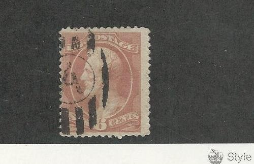 United States, Postage Stamp, 208 Rose Used, 1882 Lincoln