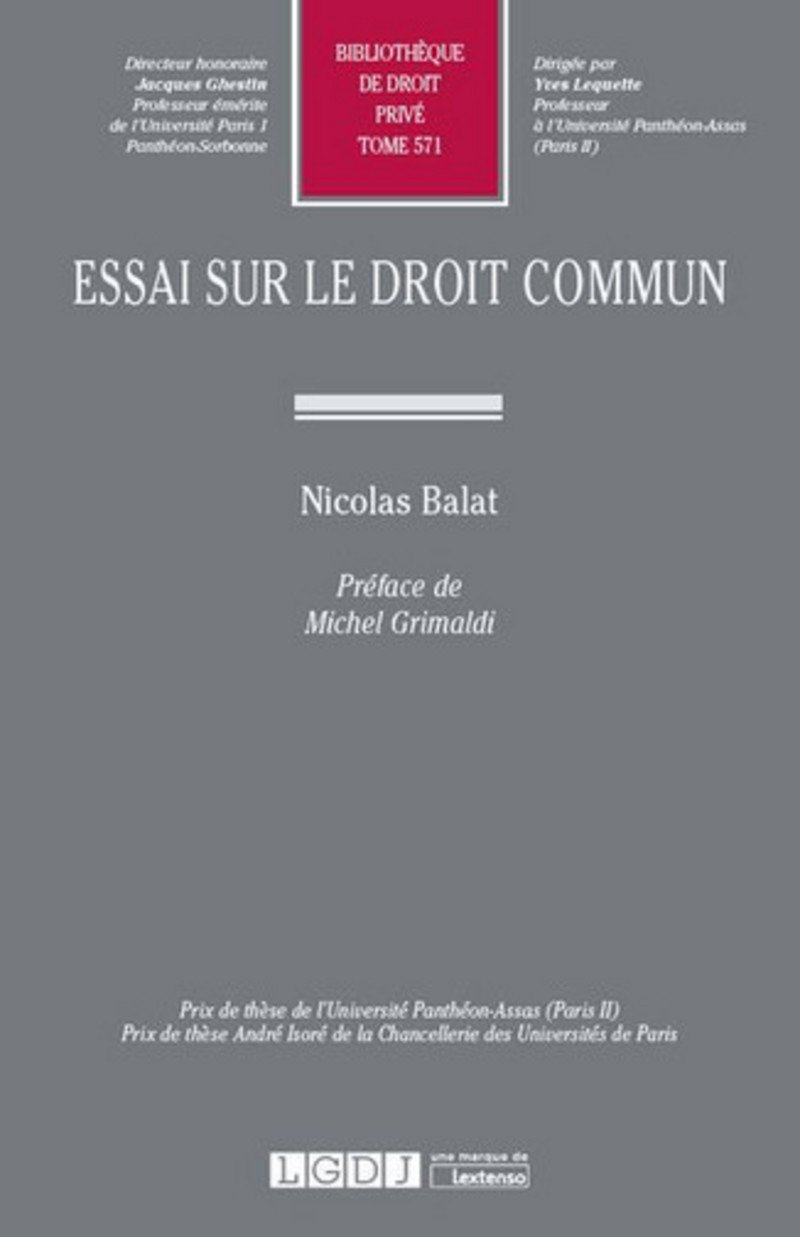 Essai Sur Le Droit Commun Tome 571 Amazon De Nicolas Balat Fremdsprachige Bucher