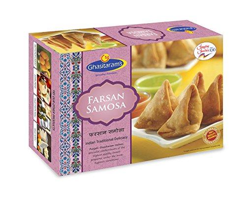 Ghasitaram's (Mumbai) Farsan Samosa, Authentic Indian Food and Snacks Namkeen - 400 grams (14 oz)