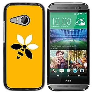 Be Good Phone Accessory // Dura Cáscara cubierta Protectora Caso Carcasa Funda de Protección para HTC ONE MINI 2 / M8 MINI // flower Bee