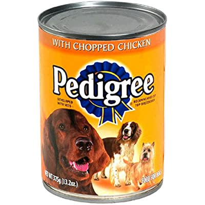 Pedigree With Chopped Chicken Food For Dogs, 13.2 Oz.