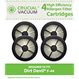 4 Allergen Pre-Motor Dirt Devil Style F44 Filters; Fits Dirt Devil Quick Lite Vacuums; Compare to Dirt Devil Part No. 304019001; Designed & Engineered by Think Crucial