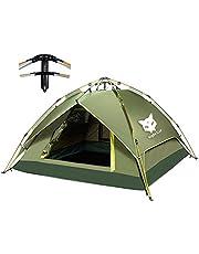 Night Cat Campingzelt 2 3 4 Personen Sofortiges Aufstellen der Haube, praktisch im Urlaub, Zelt für Outdoor-Wanderungen mit Doppelschich