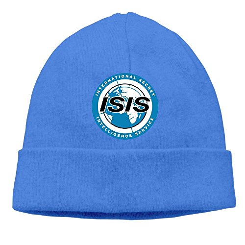 hombres real mujeres Beanie Logo Isis para y Azul Archer q641wI