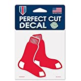 1 X Boston Red Sox Perfect Cut 4x4 Premium Auto Decal by WinCraft by WinCraft
