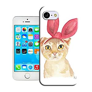 Longcase original cute rabbit painting white skin popular cover for iphone5c