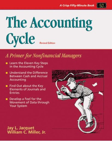 the accounting cycle - 1