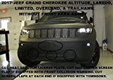 #4: Lebra 2 piece Front End Cover Black - Car Mask Bra - Fits - 2017 Jeep Grand Cherokee (Altitude,Limited,Overland & Trailhawk models without front park assist)