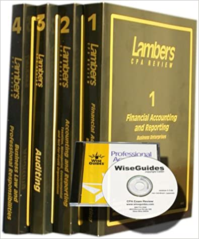 CPA Exam Review: Home Study Package (Lambers-Wiseguides CPA Review Series; Textbooks and Software)