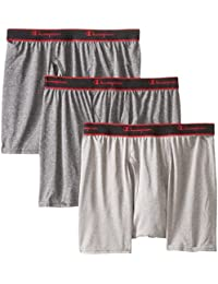 Mens 3-Pack Active Performance Short Leg Boxer Briefs