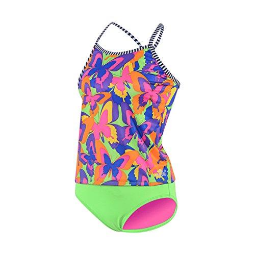 Dolfin Girl's Uglies Tankini Swimsuit (Fauna, 12)