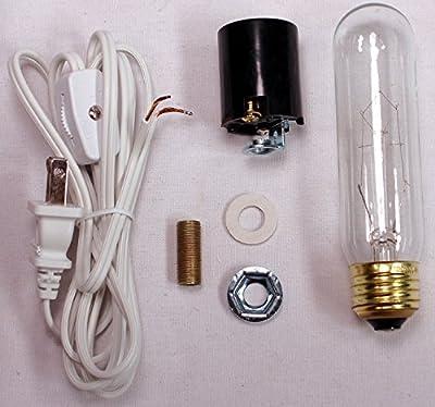 Creative Hobbies ML1-B6 Large Christmas Tree Wiring Kit, 40 watt bulb, Standard (Edison) Base, Great For Lighting Large Size Objects