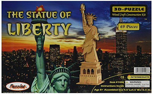 Puzzled, Inc. 3D Natural Wood Puzzle - The Statue of Liberty
