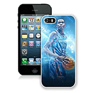 Unique Custom Designed Cover Case For iPhone 5s With Oklahoma City Thunder Kevin Durant 9 White Phone Case