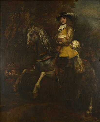 Owl Rembrandt Charm - 'Rembrandt Portrait Of Frederick Rihel On Horseback ' Oil Painting, 30 X 36 Inch / 76 X 93 Cm ,printed On High Quality Polyster Canvas ,this Reproductions Art Decorative Canvas Prints Is Perfectly Suitalbe For Basement Gallery Art And Home Artwork And Gifts