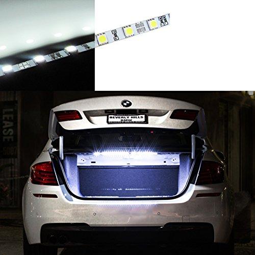 (Super Bright White HID 18-SMD LED Strip Light Car Trunk Cargo Area or Interior Illumination, 6000K)