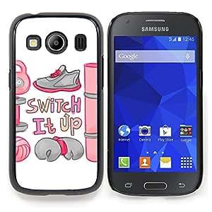 """Qstar Arte & diseño plástico duro Fundas Cover Cubre Hard Case Cover para Samsung Galaxy Ace Style LTE/ G357 (Cambie cita de motivación del entrenamiento camping"""")"""