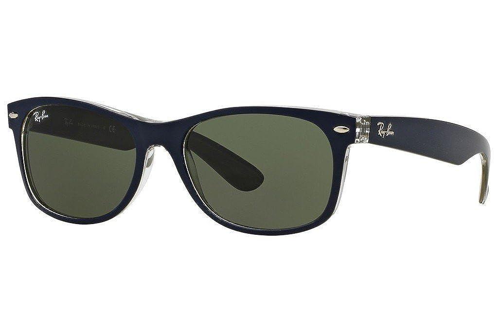 f51be6344e6 Amazon.com  Ray Ban RB2132 6188 52 Matte Blue Military Green New Wayfarer  Bundle-2 Items  Clothing