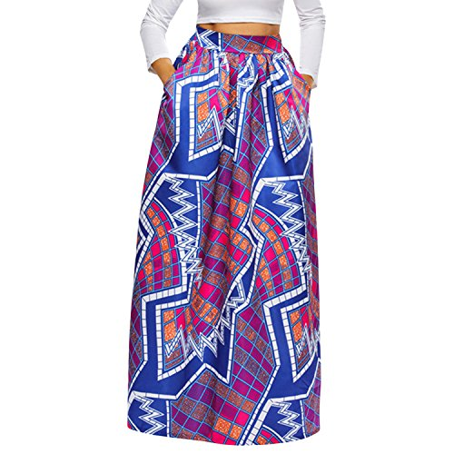 Purple Pocket Boho Side Length Women BoodTag Ankle Long Lantern Skirts Two Dress pPxFzw