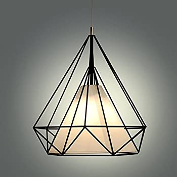 Modern scandinavian minimalist bird cage pendant lamps art diamond modern scandinavian minimalist bird cage pendant lamps art diamond pyramid pendant lights vintage iron rustic loft mozeypictures Image collections
