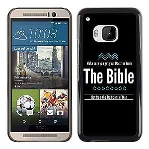 PC/Aluminum Funda Carcasa protectora para HTC One M9 BIBLE Doctrine From The Bible / JUSTGO PHONE PROTECTOR