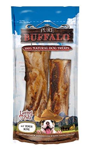 Image of Loving Pets Pure Buffalo 4 To 6-Inch Meaty Femur Bone Dog Treat, 2-Pack