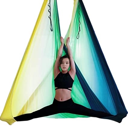 Amazon.com: Sandbags Aerial Yoga Hammock Home Indoor Hanging ...