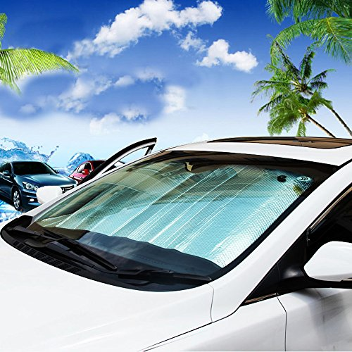 leader accessories foldable silvering reflective car sun visor auto front rear window sun shade. Black Bedroom Furniture Sets. Home Design Ideas