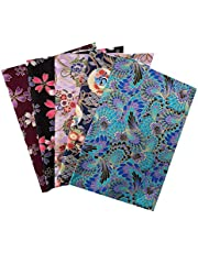 5PCS Cotton Pattern Fabric Cotton Fabric Small Flower Pattern Japanese Style Fabric for Crafts Sewing Quilting Patchwork 20 * 25CM