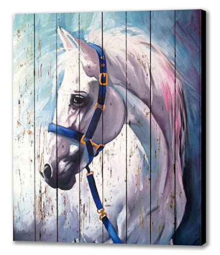 NAN Wind Horse Art Prints On Canvas Animal Painting Wihte Ho