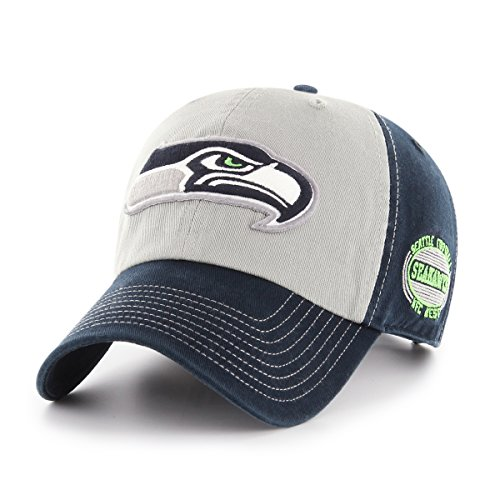 NFL Seattle Seahawks Adult Tuscon Ots Challenger Adjustable Hat, One Size, Navy