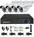 Eyedea Security 3500TVL 720P Camcorder AHD Motion Detection Video Surveillance DVR Bullet Outdoor Dome Indoor 1.3MP Megapixel Waterproof IR LED Night Vision CCTV Security Camera System
