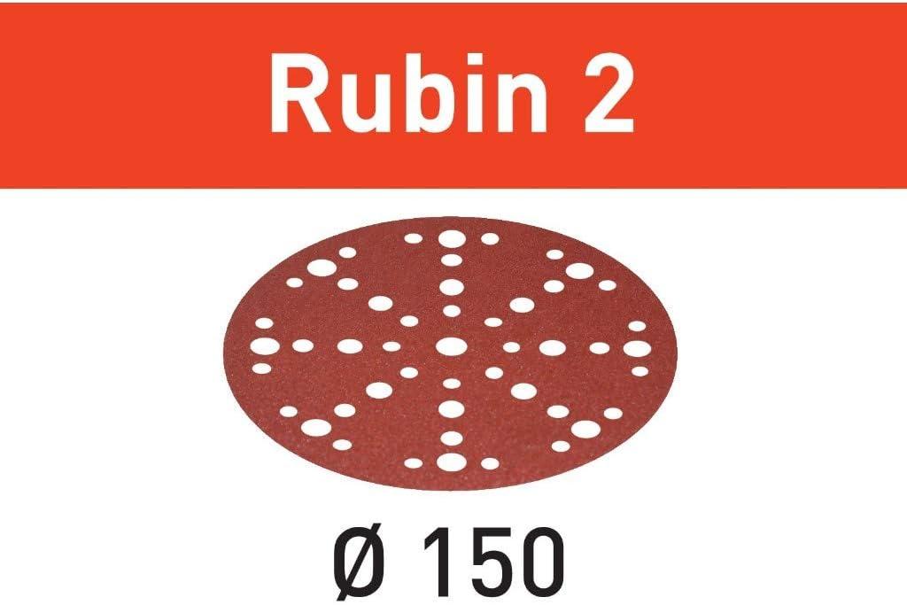 Festool 575189 100 Grit Rubin 2 For 6 Sander 50X