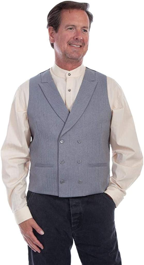 1920s Style Mens Vests Scully Western Vest Mens Double Breasted Polyester Button F0_RW316 $59.85 AT vintagedancer.com