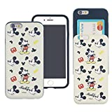 iPhone 6S / iPhone 6 Case DISNEY Cute Slim Slider Cover : Card Slot Shock Absorption Shockproof Dual Layer Protective Holder Bumper for iPhone6S / iPhone6 (4.7inch) Case - Vintage Mickey Mouse
