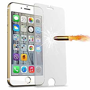 [2-Pack]iPhone 6/6s Tempered Glass Screen Protector,GIANT 0.26mm Ultra Thin 2.5D Round Edge 9H Anti-Scratch, Anti-Fingerprint,Explosion Proof Screen Protector For Apple iPhone 6/6s 4.7 inch