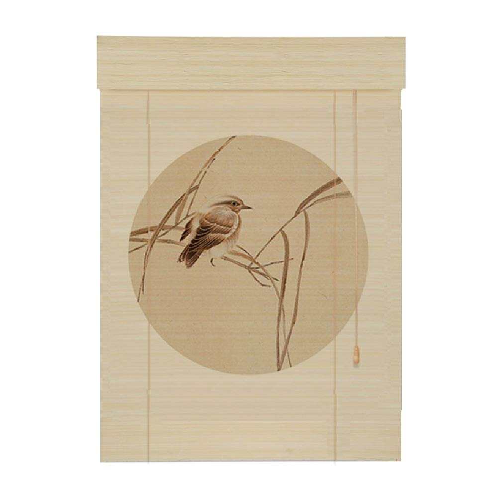 PENGFEI 印刷 竹すだれ バンブーカーテン ティールームの仕切り バルコニー 日焼け止め 耐湿性、 3色、 サイズカスタマイズ (色 : A, サイズ さいず : 140x180CM) B07NZT79GF A 140x180CM