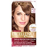 L'Oreal Paris Excellence Creme Hair Color, 6CB Light Chestnut Brown