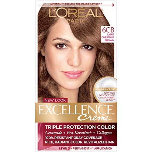 L#039Oreal Paris Excellence Creme Hair Color 6CB Light Chestnut Brown