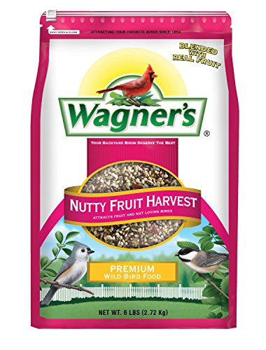 Wagner's 62072 Nutty Fruity Harvest Wild Bird Food Blend, 6-Pound Bag