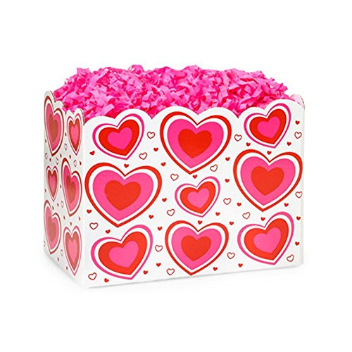 Small Flirty Hearts Basket Boxes - 6.75 x 4 x 5in. - 78 Pack by NW