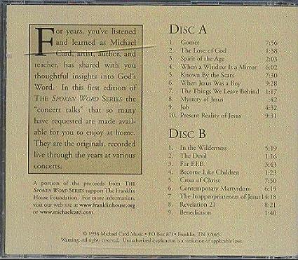 Michael Card - Concert Talks Vol  1 [RARE] - Amazon com Music