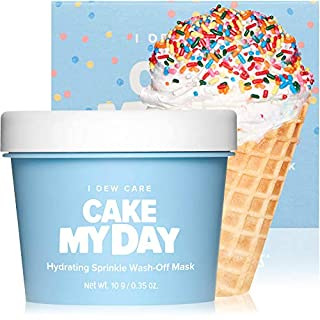 I DEW CARE Cake My Day Hydrating Sprinkle Wash-Off Facial Mask   Korean Skin Care Face Mask With Hyaluronic Acid, Face Moisturizer To Plump, Nourish And Moisturize Skin   Birthday gifts for friends female (3.52 oz)