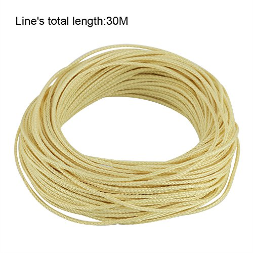 Fishing Braided Line Kevlar String Parachute Cord Line Tactical Survival Rope Superbraid Wire 30m 1.5MM 530lb Fade/Water Resistance Paracord for Saltwater& Freshwater Fishing Camping Hiking 100% Kevlar String