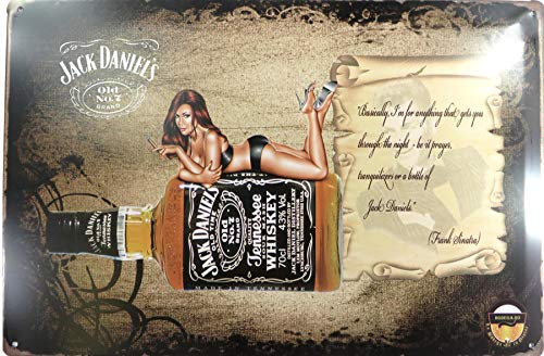 WholesaleSarong Sexy Girl Jack Daniels Old Time Whiskey tin Sign Metal Wall Poster Home Decor for Less - Old Time Whiskey