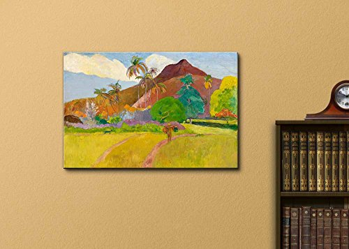 Tahitian Landscape by Paul Gauguin Print Famous Painting Reproduction