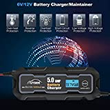 AUTDER 6V/12V 5A Fast Smart Battery Charger with