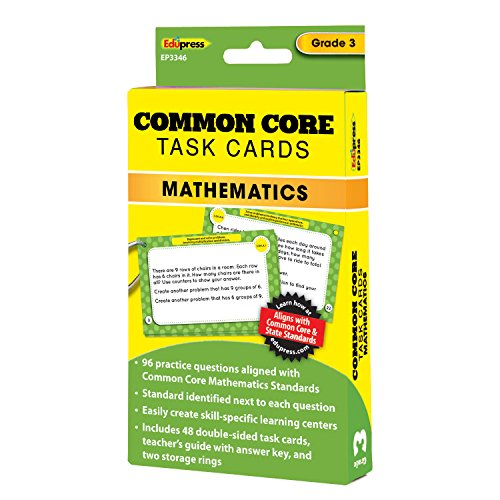 Edupress Common Core Task Cards, Math, Grade 3 (EP63346)