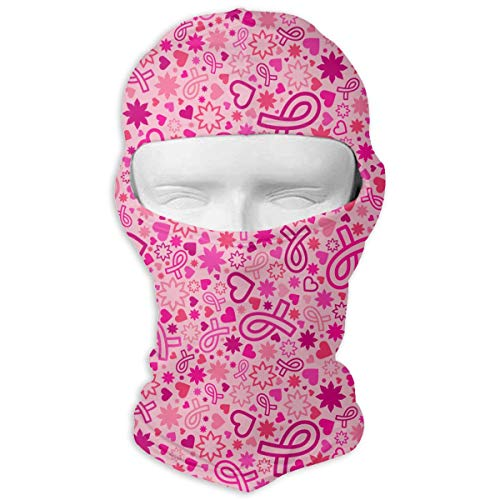 Queendesign Breast Cancer Awareness Balaclava Full Face Mask Motorcycle Helmet Liner Breathable Multipurpose Outdoor Sports Wind Proof Dust Head Hood