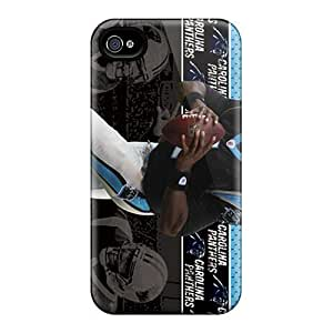 Hot Style EDx2199BlBZ Protective Case Cover For Iphone4/4s(carolina Panthers)